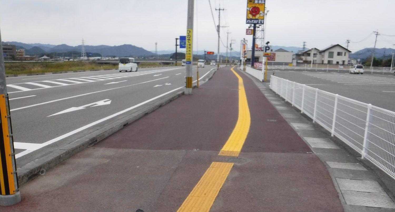 平成29年度 国道218号 岡富工区 歩道舗装補修工事